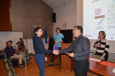 Razglasitev rezultatov in podelitev nagrad.